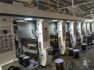 Second-Hand Plastic Film Making Machine with Eight Color Gravure Printing pictures & photos