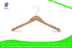 Normal Clothes Bamboo Hanger with Notch (YLBM6615-NTLNR1) pictures & photos