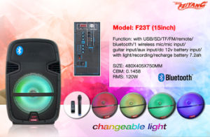 "2016 Newest 15"" Professional Subwoofer Bluetooth Speaker with USB SD FM Remote F23t pictures & photos"