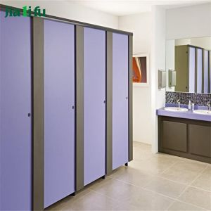 Heavy-Duty Hardware12mm HPL Panel Toilet Cubicle (JLF-YT01-R) pictures & photos
