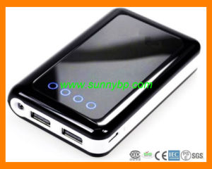Alloy Plastic 5V/1A, 5V/ 2A Solar Power Bank with LED pictures & photos