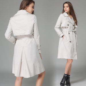 OEM 2015 High Quality European Western Style Women Overcoat pictures & photos