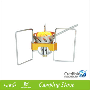 Wind Resistant Folding Gas Camping Stove with Powerful Fire pictures & photos