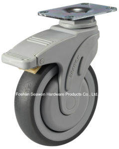 Swivel with Brake Medical TPR Caster pictures & photos