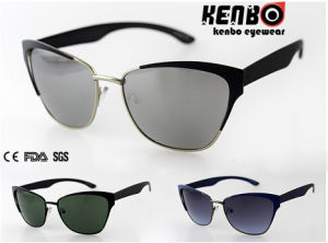 Hot Sale Fashion Metal Sunglasses CE FDA SGS Km15252 pictures & photos