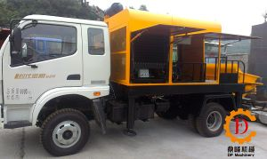 Technical Design and High Quality Concrete Mixer Pump with Tow Truck pictures & photos