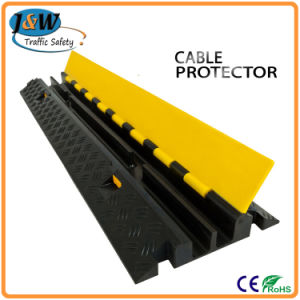 Two Channels Reflective Rubber Cable Protector pictures & photos