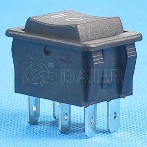 on-off-on 6pins Double Pole Rocker Switch pictures & photos