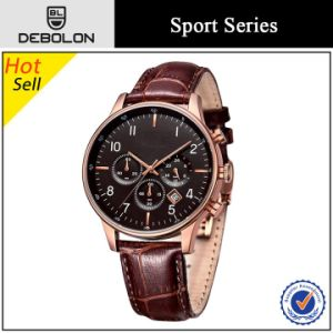 Hot Selling Chronograph Mens Japan Mov′t Stainless Steel Watch