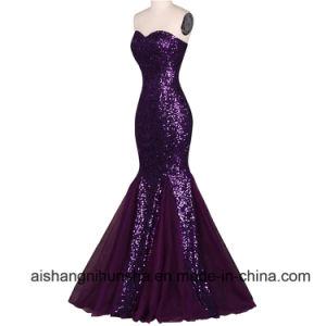 Purple Elegant Formal Dresses Mermaid Evening Gowns pictures & photos