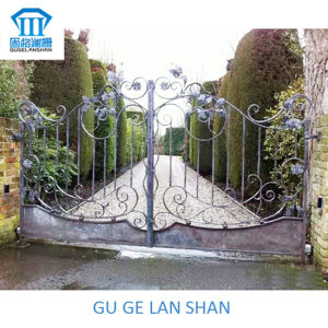 High Quality Crafted Wrought Iron Gate 027 pictures & photos