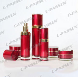 New Skincare Packaging China Red Acrylic Cosmetic Jar Bottle (PPC-CPS-056) pictures & photos
