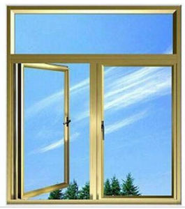 Double Panel Aluminum Casement Arched Window Side Hung