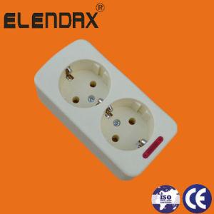 10/16A EU 2 Way Power Extension Socket (E5002E) pictures & photos