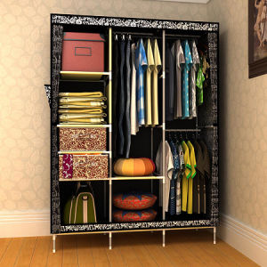 Space Save Simple Design Wooden Walk in Wardrobe pictures & photos