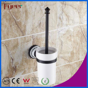 Fyeer Classic Black Bathroom Accessory Brass Toilet Brush Holder pictures & photos