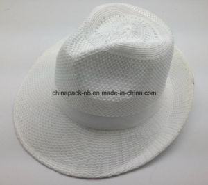 Cheapest 100%Polyester White Panama Hats (CPA_60244) pictures & photos
