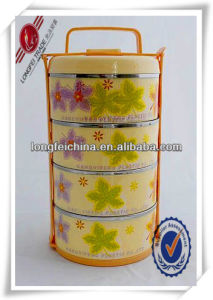 4-Layersplastic Metal Insulated Food Storage Container with Handle pictures & photos