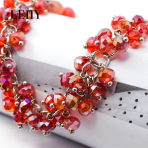 Hot Fashion Bracelet Jewelry Silver-Tone Red-Crystal Bracelet Designs for Women pictures & photos