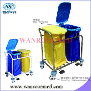 Bss024 Stainless Steel Linen Trolley with Dust Bag pictures & photos
