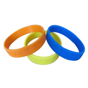 Best Quality in China Debossed Wristbands pictures & photos