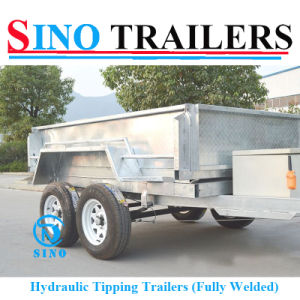 Australian Tandem Tilting Trailer with Cage pictures & photos