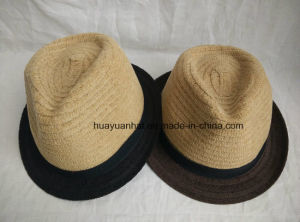 100% Wool with Double Color Fedora Hats pictures & photos