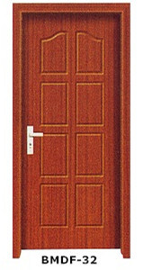High Quality PVC Door in Brown Color pictures & photos
