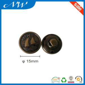 Copper Sewing Shank Button with Customized Logo