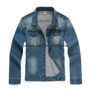 High Quality Fashion Clothes Korean Men′s Slim Denim Jacket pictures & photos