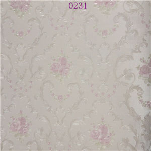 Eco-Friendly Embossed Wallpaper Pink PVC Discount Wallpaper pictures & photos