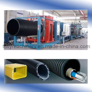 PE/PVC Double Wall Corrugated Pipe Production Line pictures & photos