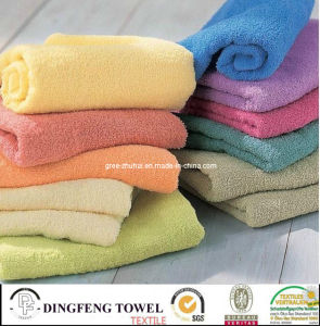 100% Cotton Terry Plain Towel for Bath or Beach pictures & photos