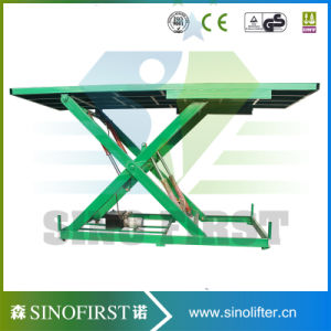 Hydraulic 3ton Industrial Warehouse Cargo Lift Scissor Lift pictures & photos