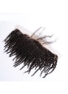 13X4 Virgin Raw Human Hair Afro Kinky Curly Frontal Pieces with Baby Hair 8A Unprocessed Lace Frontal with Baby Hair Bleached Knots pictures & photos