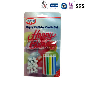 Blister Card Packing Birthday Candle with Holder pictures & photos