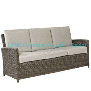 Wicker Furniture 3 Seater Sofa with Waterproof Cushion pictures & photos