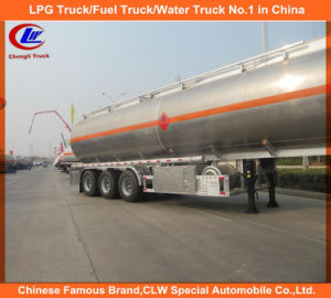 3 Axle 42000L Stainless Steel Fuel Oil Tank Semi Trailer pictures & photos