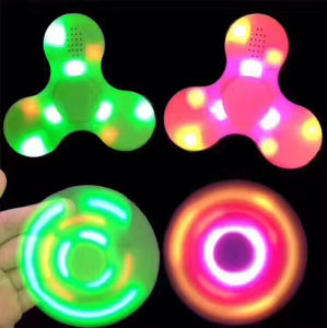 ABS LED Chargeable Fidget Spinner Bluetooth pictures & photos
