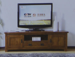 Solid Oak Furniture- 2 Door 1 Drawer TV Cabinet