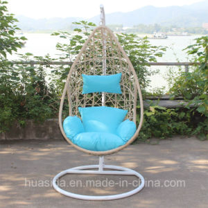 Garden Swing Chair Made with Aluminum and Rattan pictures & photos