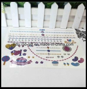 2015 Customized Temporary Metallic Gold Foil Water Transfer Jewelry Fashion Tattoo Sticker pictures & photos