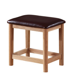 Solid Oak Dressing Stool-Antique Colour