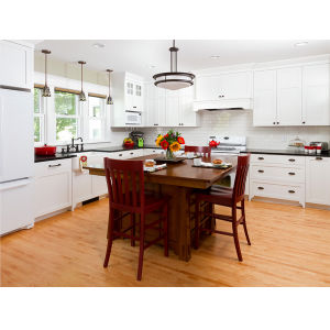2016 New Style Solid Wood Kitchen Cabinet Light Wood Kitchen Furniture pictures & photos