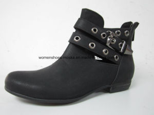 Comfort Women Fashion Low Heel Ankle Boots for Leisure pictures & photos