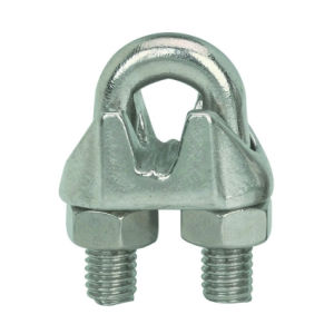 Non-Rust Zinc-Galvanized Steel Malleable Wire Rope Cable Clip Clamp pictures & photos