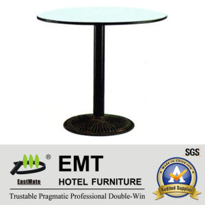 Simple Design Restaurant Rounded Dining Table (EMT-R32) pictures & photos