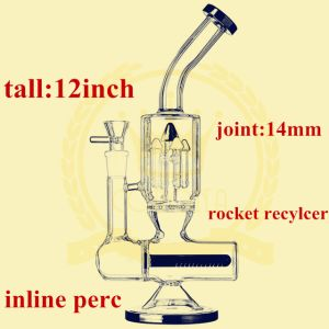 Tube Inline Recylcer Smoking Glass Water Pipe pictures & photos