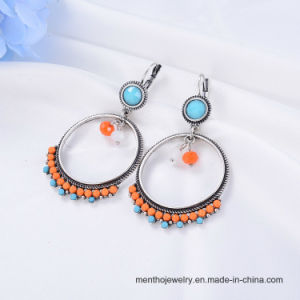High Grade Colorful Bohemian Fashion Jewelry Alloy Beaded Hoop Earring pictures & photos