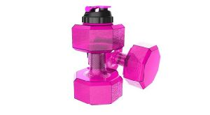 PETG Material Plastic Dumbbell Water Drinking Bottle with Cover pictures & photos